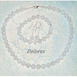 Naszyjnik, bransoletka i srebrne kolczyki z lodowego kryształu górskiego i srebra