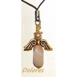 Jaspisowy aniołek z główką z perły Majorka - na wzmocnienie, wspiera odchudzanie Na rękę