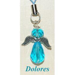 Niebiański aniołek. Główka - kryształ Swarovskiego Biżuteria i Zegarki