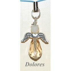 Złoty aniołek z główką z fasetowanego cytrynu - nadzieja, bogactwo i szczęście Pozostałe