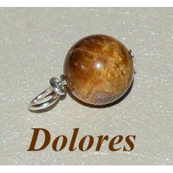 Wisiorek z 1 cm kulki z tygrysiego oka - na bogactwo i szczęście Biżuteria i Zegarki