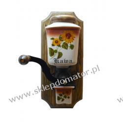 Młynek do kawy wiszący - motyw 'słoneczniki' Czajniki i imbryki