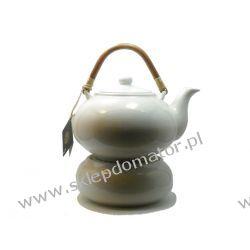 Dzbanek z podgrzewaczem - 1.7 litra - biały  Czajniki i imbryki