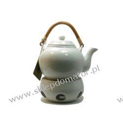 Dzbanek z podgrzewaczem - 1.1 litra - biały Czajniki i imbryki