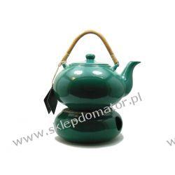 Dzbanek z podgrzewaczem - 1.7 litra - zielony Czajniki i imbryki