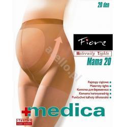 Rajstopy ciążowe  MAMA 20 den FIORE  NATURAL rozm. 4