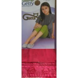 Leginsy dziecięce GATTA z koronką rozm. 116-122 kolor azalea