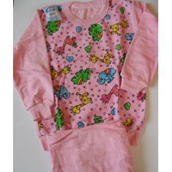 Piżamka frotte dla dziewczynki rozm. 110