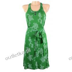 Sukienka, NUMPH, zielona w biały wzór