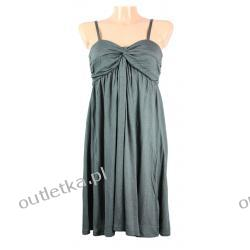 Sukienka, ICHI, szara na ramiączkach