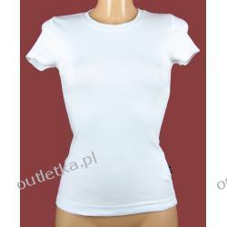 T-shirt damski, biały, klasyczny