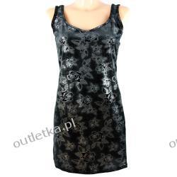 Sukienka, SISTERS POINT, kolor: czarny w srebrne róże