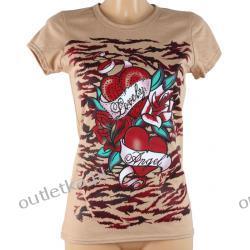 Koszulka, T-shirt,  SISTERS POINT, wzór: róże i serca