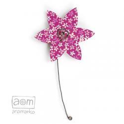 magnes - kwiatuszek różowy