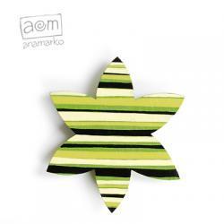 magnes - zielony pasiasty