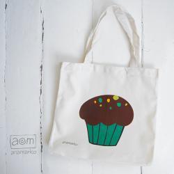 torba - muffinka turkusowa
