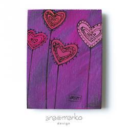 magnes - serduszkowy fioletowy