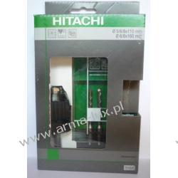 HITACHI uchwyt samozaciskowy 13mm z adapterem SDS-PLUS + zestaw wierteł