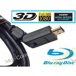 Kabel HDMI GOLD ver 1.4 FULL HD 3D ŁAMANY 3D 1,8m