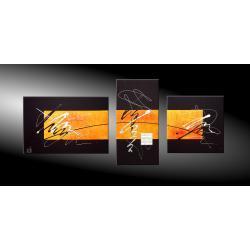 """Obrazy nowoczesne """"cosmic orange"""" ręcznie malowane  Antyki i Sztuka"""