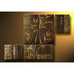 """Obrazy nowoczesne """" bambus"""" ręcznie malowane  Antyki i Sztuka"""