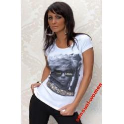 Sensualwomen Koszulka Biała Love S/M