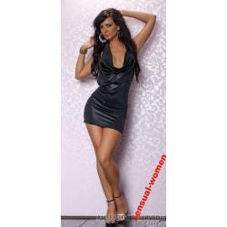 Sensualwomen Seksowna Czarna Sukienka S/M
