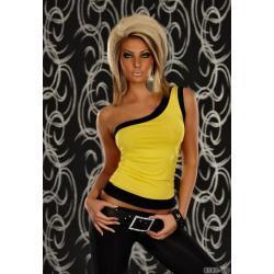 Sensualwomen Sexy Bluzka Na Ramię S/M Żółta