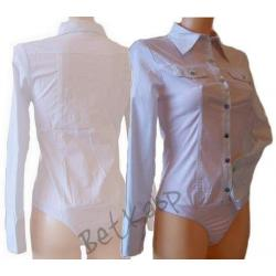 Biała koszula body    97% bawełna XL / 40