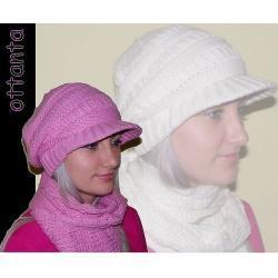 Komplet czapka / kaszkiet + szal 5 kolorów
