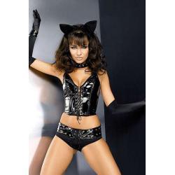 Pussycat komplet - czarny