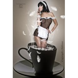 Kostium French Kiss - czarno-biały