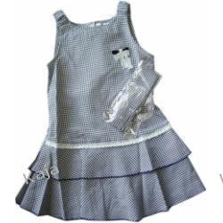 Niebieska Kratka - sukienka dla dziewczynek 02551 A