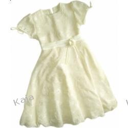 Beata - kremowa sukienka wizytowa 02491 A