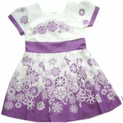 Wrzosowa sukienka z rękawkiem Majka  02577 A