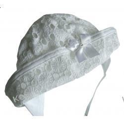 Biały Kapelusik Hania  01298A