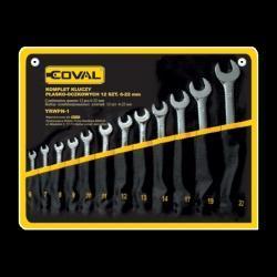 zestaw kluczy płasko-oczkowych Coval 12 el