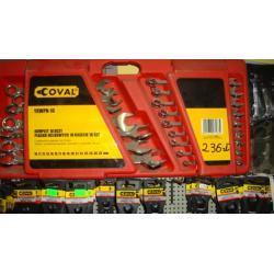 zestaw profesjonalnych kluczy płasko-oczkowych Coval 11 el