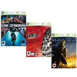 PGR4+HALO3+CRACKDOWN Xbox360 pakiet gier
