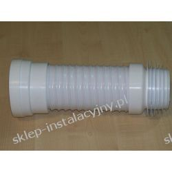 Króciak przyłącze rura elastyczna odpływowa do muszli WC kompakt 36 cm