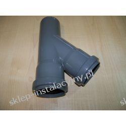 Trójnik kanalizacyjny redukcyjny 75x50 45 stopni szary