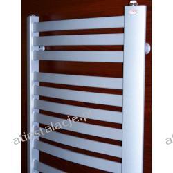 Grzejnik łazienkowy LUXOR LUX-DELTA 550x1200 moc 1120W SREBRO SATYNA