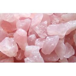KWARC różowy - szczęście w miłości - 1 kg w formie naturalnej czystej skalki
