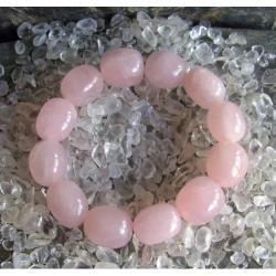 Bransoletka kwarc różowy - 100% naturalna -  piękna, magiczna i naenergetyzowana