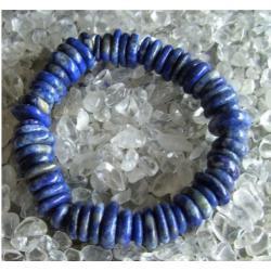 Bransoletka Lapis Lazuli - 100% naturalna -  tylko 1 sztuka - piękna, magiczna i naenergetyzowana