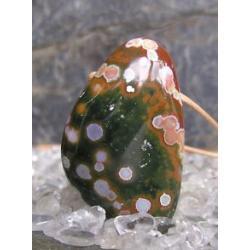 Naszyjnik wisior JASPIS oceaniczny 100% naturalny z gwarancja pochodzenia tylko 1 szt