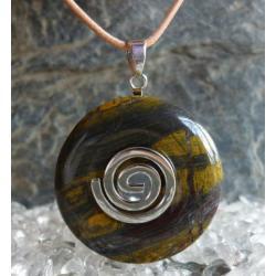 Sprzedany Wisior KAMIEN TYGRYSI, celtycka spirala magiczna  - 100% naturalny -  tylko 1 sztuka - piękna, magiczna i naenergetyzowana