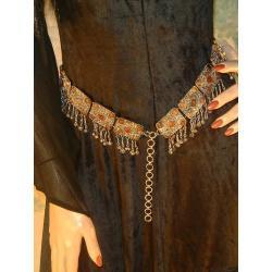 Wyjątkowo piękny i niepowtarzalny pasek średniowieczny do suknii i tunik - najwyższa jakość