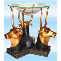 Lampa zapachowa do olejków eterycznych - głowy byka - wykonana ręcznie