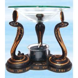 Lampa zapachowa do olejków eterycznych - kobry - wykonana ręcznie